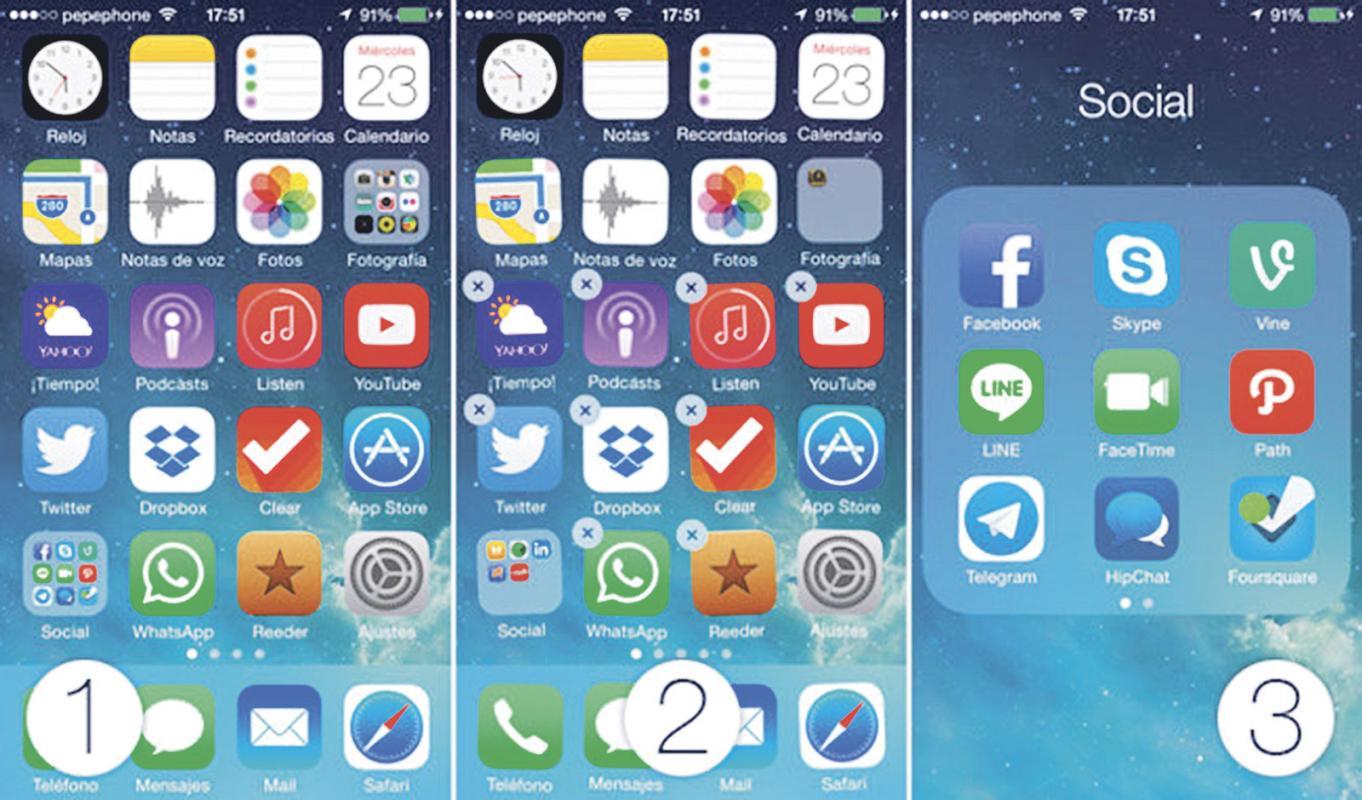 diario extra organice la pantalla del celular