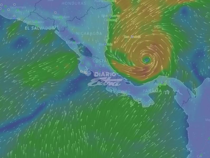 Huracán Otto se acerca a las costas de Nicaragua, Costa Rica