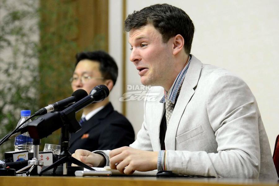 Corea del Norte pone en libertad a estudiante estadounidense