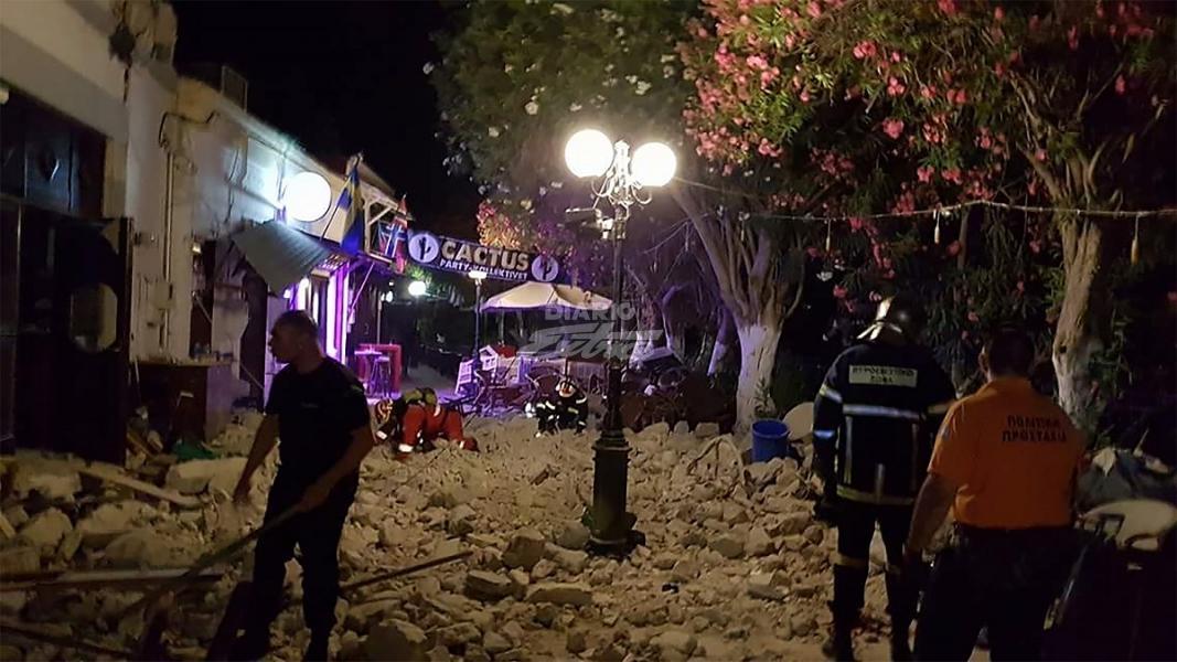 Sismo de 6.7 grados en isla de Grecia deja dos muertos