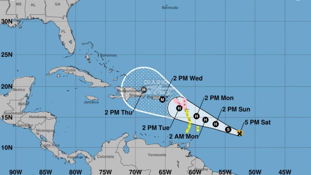 El huracán María tocó tierra con categoría 4 — Puerto Rico