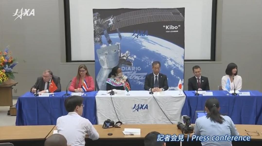 Módulo japonés de la EEI despliega primer satélite de Costa Rica
