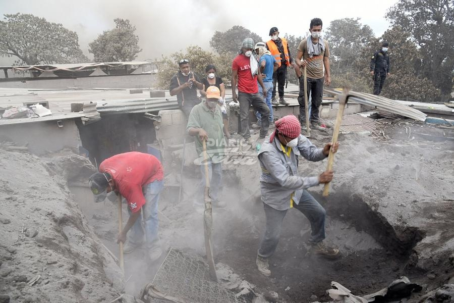 Finalizan búsqueda de sobrevivientes del Volcán en Guatemala