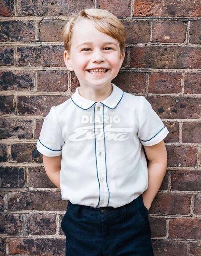 Publican fotografía del príncipe Jorge Cambridge en su cumpleaños número 5