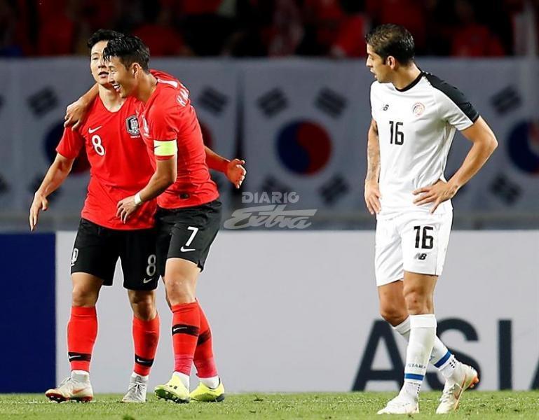 Cae Costa Rica ante Surcorea en amistoso de fútbol