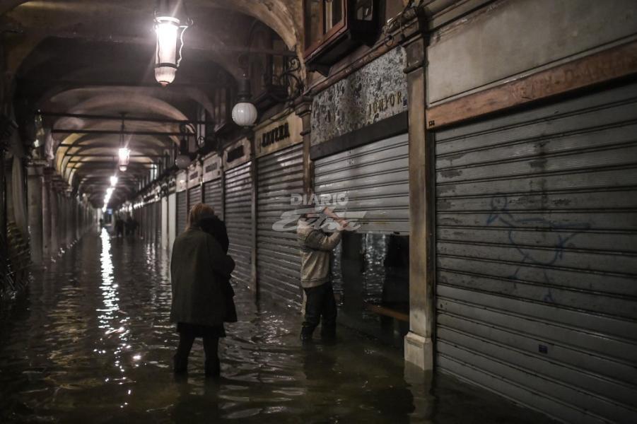 Venecia amaneció inundada tras